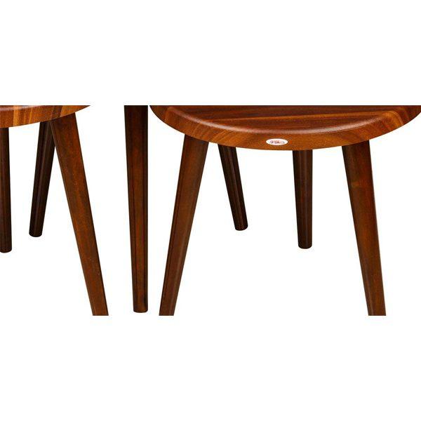 میز عسلی چوبی چشمه نور کد D-110-BR مجموعه 3 عددی قهوه ای