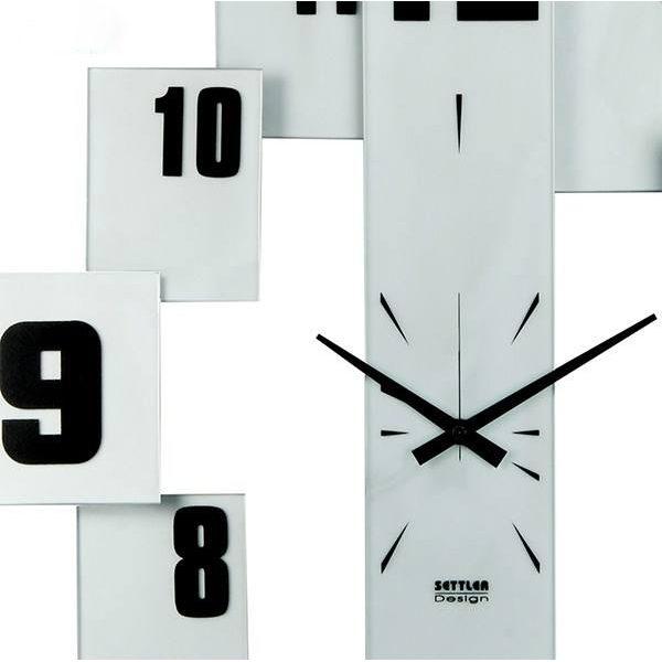 ساعت دیواری چشمه نور مدل V002WT سفید