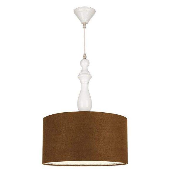 چراغ آویز چوبی چشمه نور کد A7020/1H-WT-BR قهوه ای