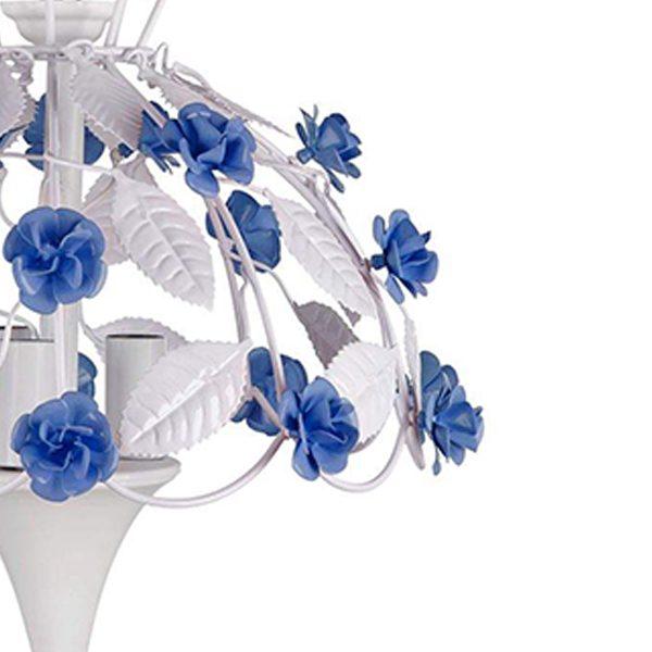 لوستر فلزی چشمه نور کد A2207/3-BL آبی