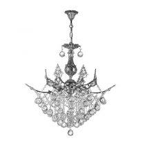 لوستر کریستالی چشمه نور 9 شعله کد 2644/6C کروم