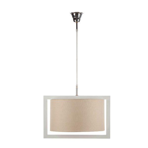 چراغ آویز چوبی چشمه نور کد A7036/1H-WT-MIX طرح دار