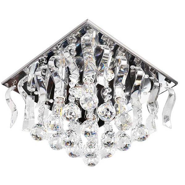 لوستر سقفی کریستالی چشمه نور کد A6638/30-30-S-C کروم
