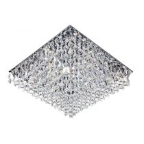 لوستر سقفی کریستالی چشمه نور کد A6638/80-80-S-C کروم