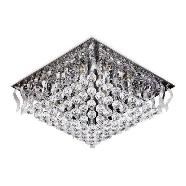 لوستر سقفی کریستالی چشمه نور کد A6638/60-60-S-C کروم