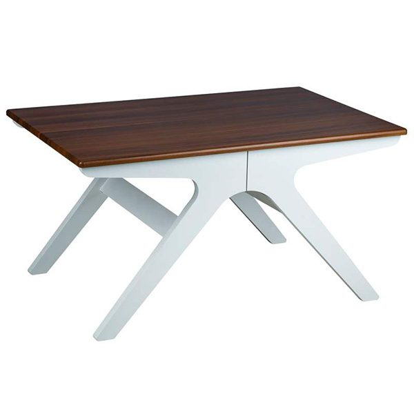 میز جلو مبلی چوبی چشمه نور کد D-127/BR-WT