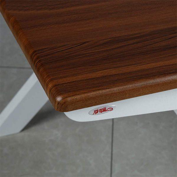 میز عسلی چوبی چشمه نور کد D-128/BR-WT مجموعه 3 عددی