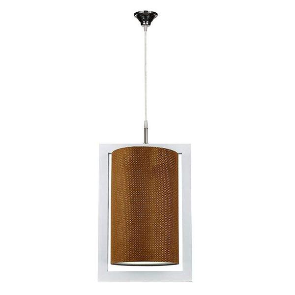 چراغ آویز چوبی چشمه نور کد A7039/1H-WT-BR شید قهوه ای