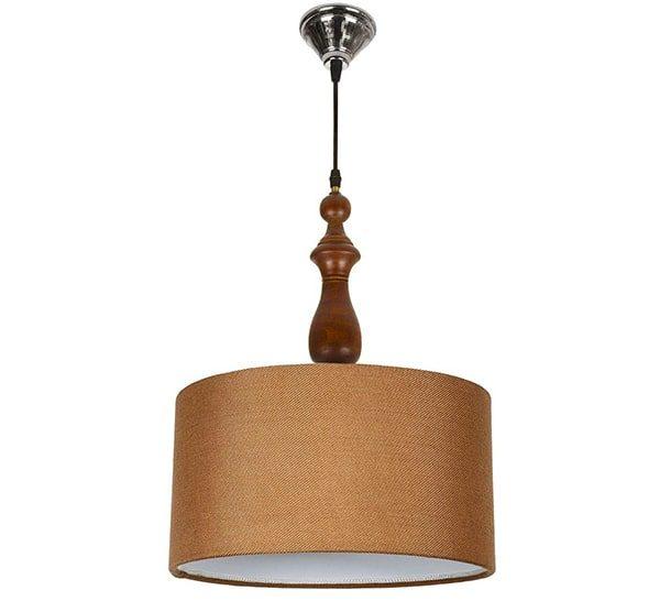 چراغ آویز چوبی چشمه نور کد A7020/BR-N