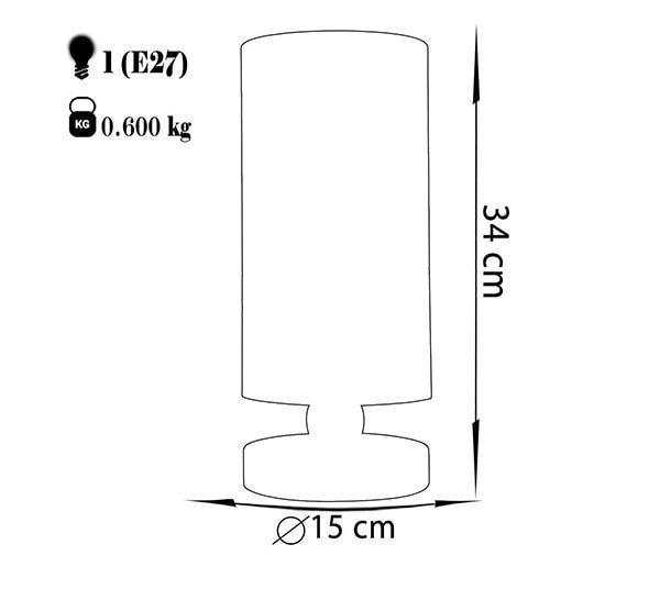 آباژور رومیزی چشمه نور مدل MT7066/03-WT