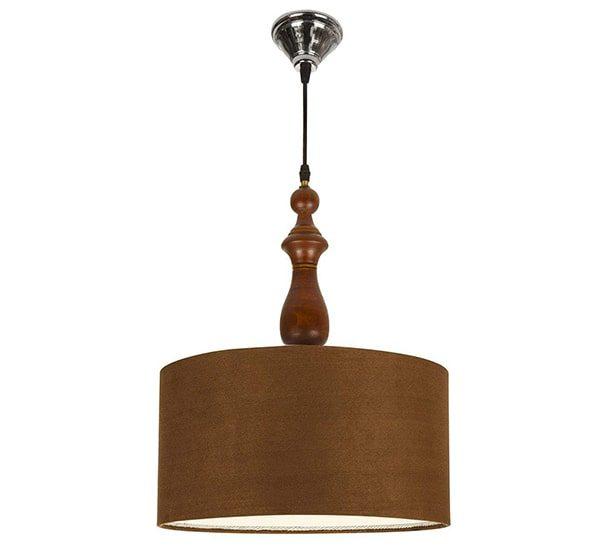 چراغ آویز چوبی چشمه نور کد A7020/BR-BR