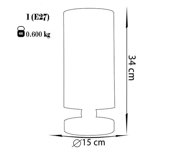 آباژور رومیزی چشمه نور مدل MT7066/02-WT