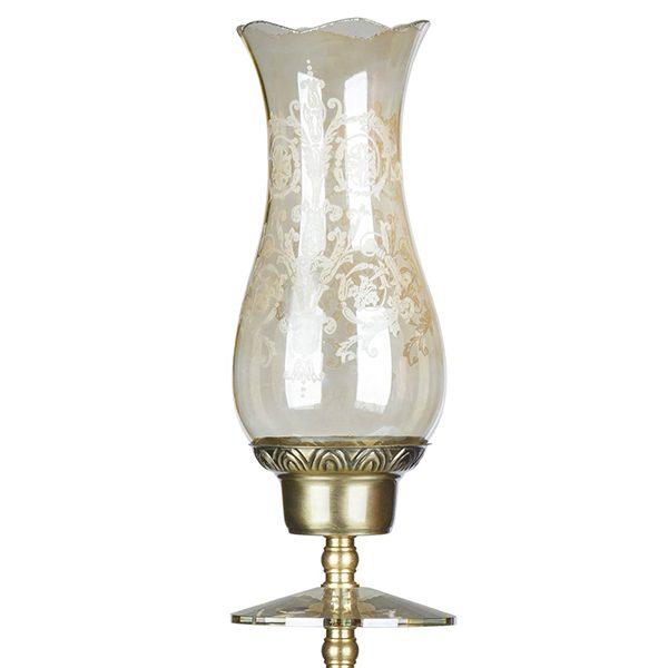 شمعدان برنزی چشمه نور کد C2151-1T-A آنتیک
