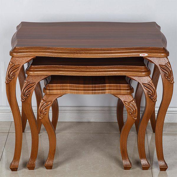 میز عسلی چوبی چشمه نور کد D-120-BR مجموعه 3 عددی
