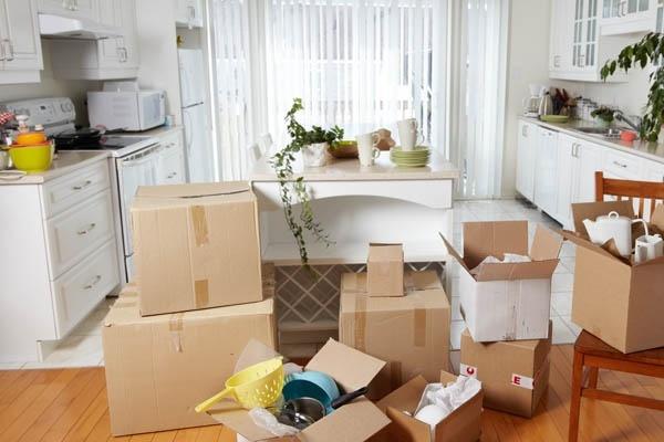 unpacking kitchen