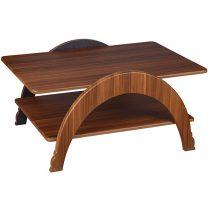 میز جلو مبلی چوبی چشمه نور کد D-132-BR
