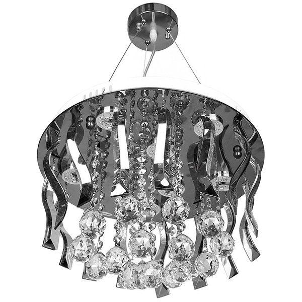 چراغ آویز کریستالی چشمه نور 8 شعله کد A7766/40-C