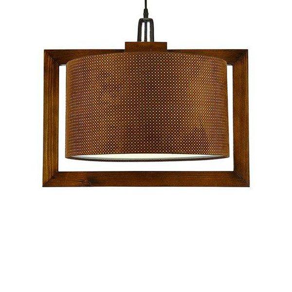 چراغ آویز چوبی چشمه نور کد A7061/1H-BR-BR