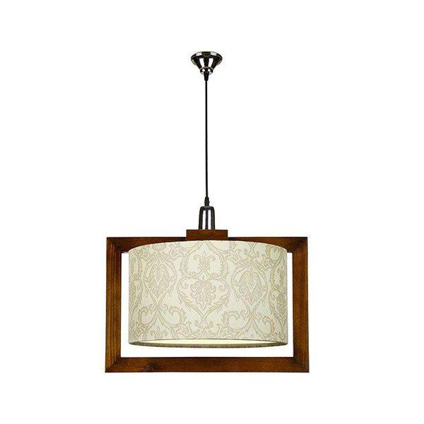 چراغ آویز چوبی چشمه نور کد A7061/1H-BR-MIX