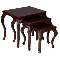 میز عسلی چوبی چشمه نور کد D-109-BR مجموعه 3 عددی قهوه ای