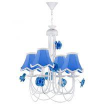 لوستر فلزی چهار شعله چشمه نور مدل A2205/4-BL آبی