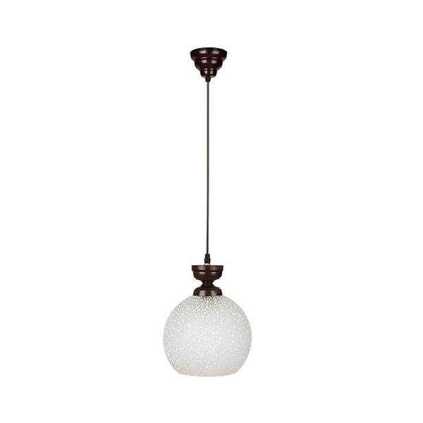 چراغ آویز چوبی چشمه نور تک شعله کد G555/1H-BR