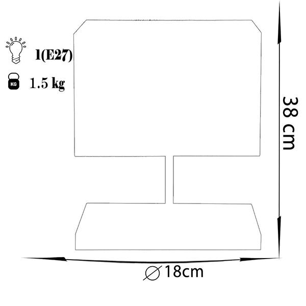 آباژور رومیزی چشمه نور مدل MT7037/BR-CRشید کرم