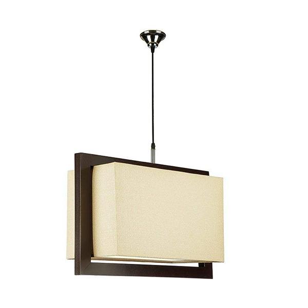 چراغ آویز چوبی چشمه نور کد A7040/1H-BR-CR کرم