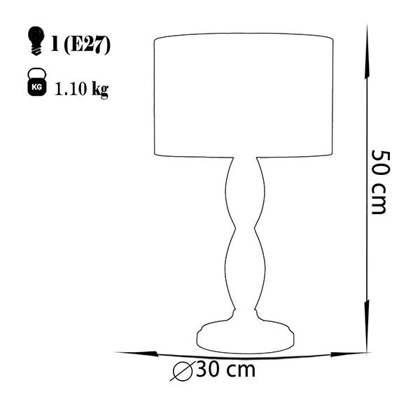 آباژور رومیزی چشمه نور مدل MT7070.F-T شیدطوسی