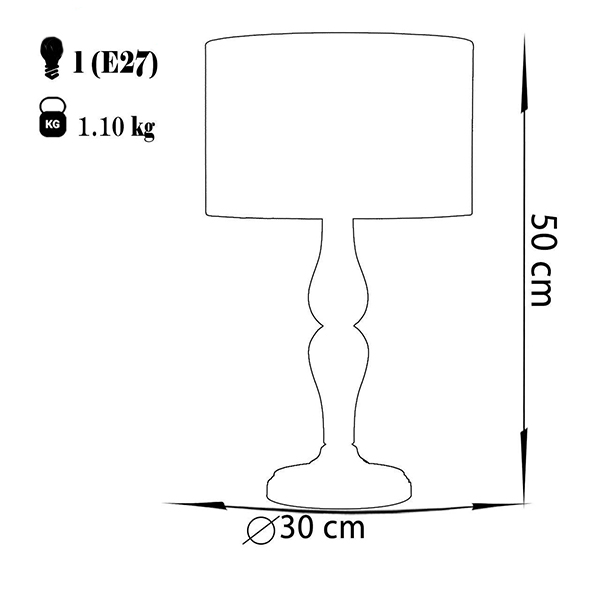 آباژور رومیزی چشمه نور مدل MT7071.F-T شیدطوسی