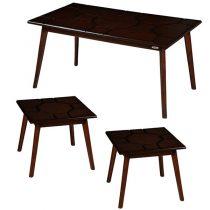 میز پذیرایی چوبی چشمه نور کد E-203-BR مجموعه 3 عددی