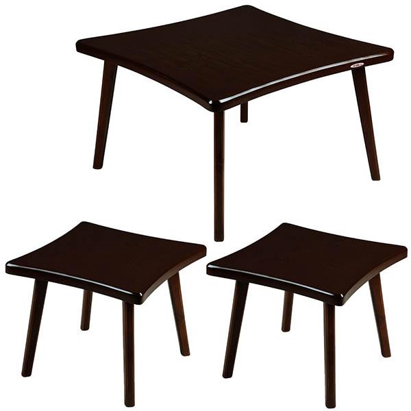 میز پذیرایی چشمه نور کد E-206-BR مجموعه 3 عددی