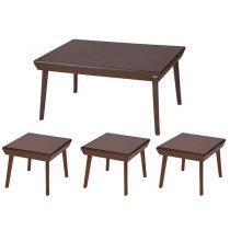 میز پذیرایی چوبی چشمه نور کد E-209-F مجموعه 4 عددی