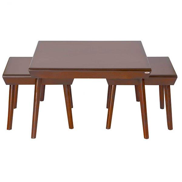 میز پذیرایی چوبی چشمه نور کد E-210-F مجموعه 3 عددی