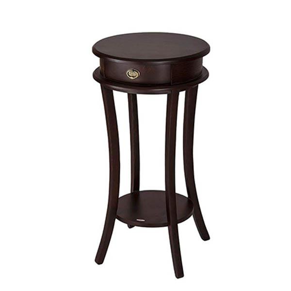 میز تلفن چوبی چشمه نور کد E-212-BR قهوه ای
