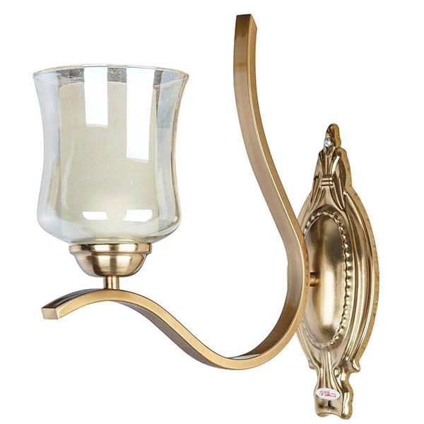 چراغ دیواری فلزی و دایکاست چشمه نور کد H2610.1W-A آنتیک