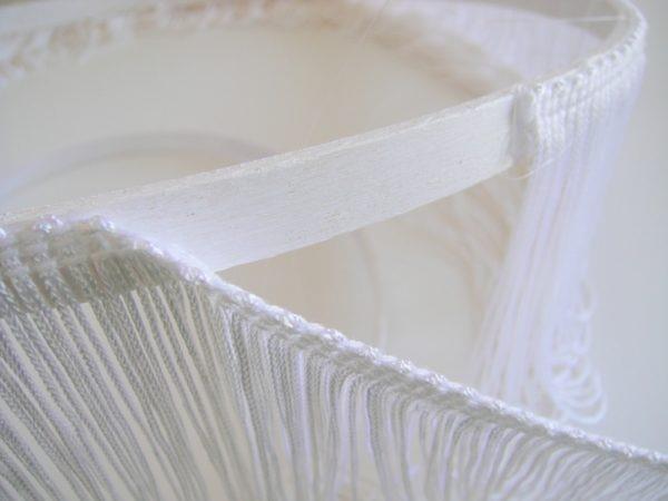 ساخت لوستر فانتزی در منزل رشته های سفید