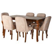 میز و صندلی ناهار خوری چوبی چشمه نور کد MA-6044.BR-CR