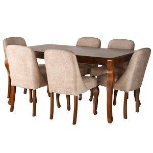 میز و صندلی ناهار خوری چشمه نور کد MA-6044/BR-CR