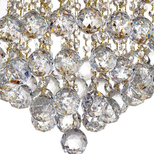 لوستر سقفی کریستالی چشمه نور کد 6638/40A آنتیک