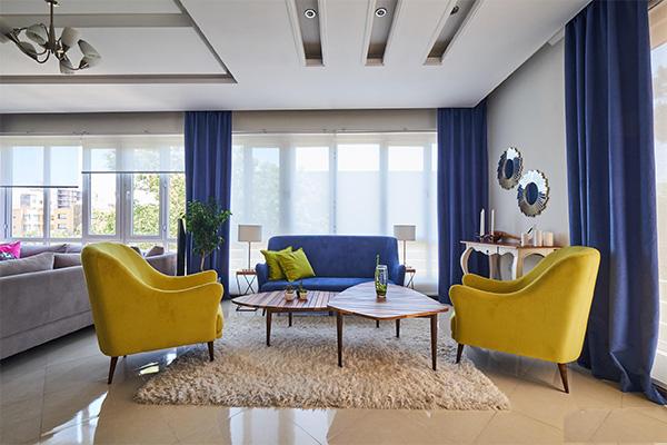 ترکیب آبی و زرد