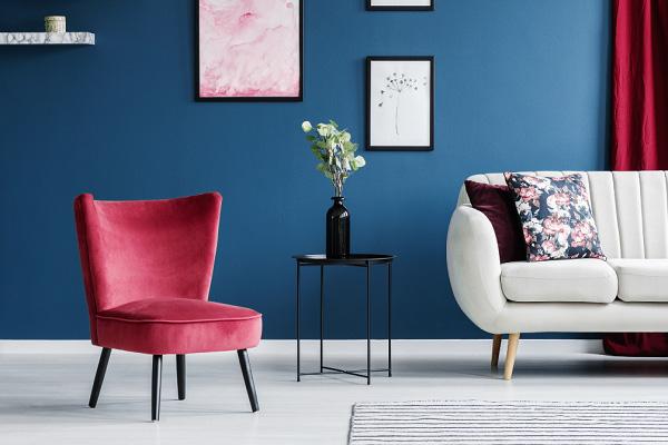ترکیب قرمز و آبی کلاسیک