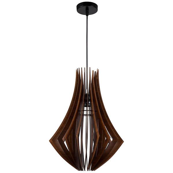 چراغ آویز چوبی چشمه نور کد A1330/1H-BR قهوه ای