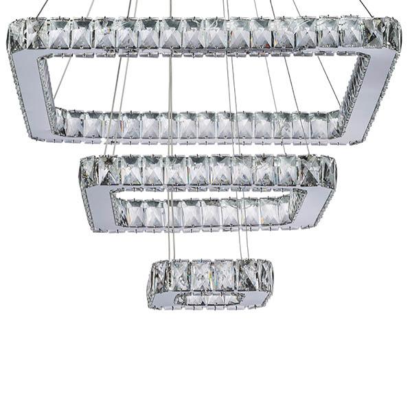 چراغ آویز چشمه نور کد A6545/3-C ( ریموت دار )