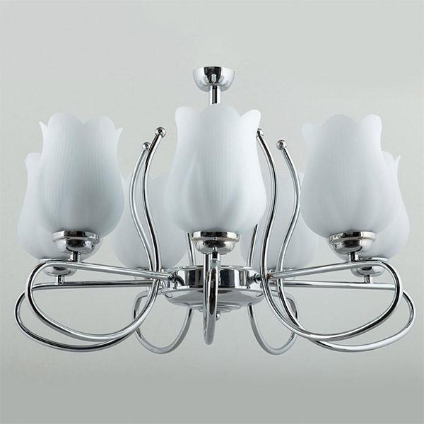 لوستر فلزی 7 شعله چشمه نور مدل A814/7-C کروم