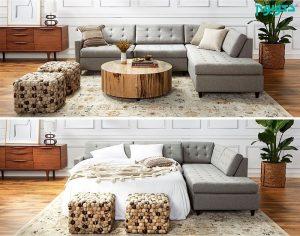مبل تختخواب شو ال شکل
