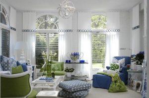 پالت رنگی سبز و آبی