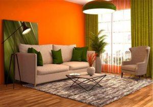 پالت رنگ نارنجی ٬ طوسی و سبز
