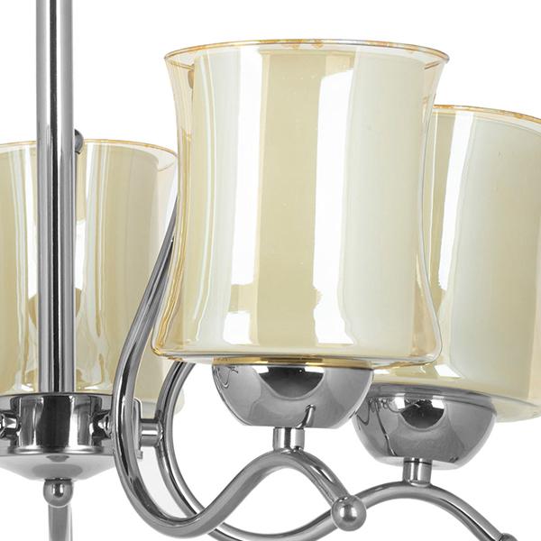 لوستر فلزی 5 شعله چشمه نور مدل A823/5-C کروم